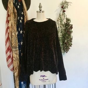 cynthia rowley || midnight chenille sweater NWOT
